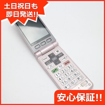 ●安心保証●美品●au K005 簡単ケータイ ピンク●白ロム