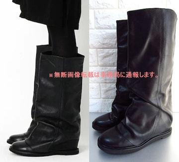 美品 Zucca ズッカ ミドル丈 パンツブーツ�U/サイズL 黒