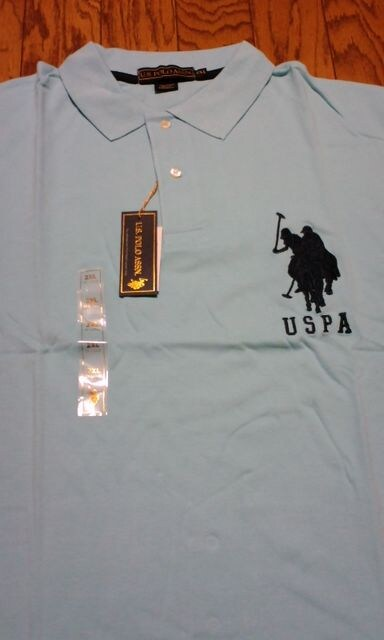 LA直輸入U.S.POLO半袖カノコポロシャツ ビックポニー3番 3XL4XL位 < 男性ファッションの