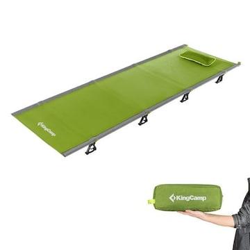 アウトドア 折りたたみベッド 枕と収納バッグ付き 軽量 グリーン