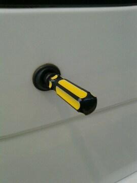 ドライバーリアワイパー6mm黄×黒自作キャップ