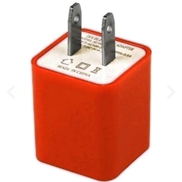 ¥3880新品☆USB2ポート充電アダプター/赤