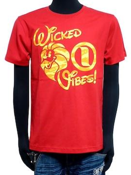 新品ネスタ62NB1000迷彩フロッキーロゴプリントTシャツ赤M