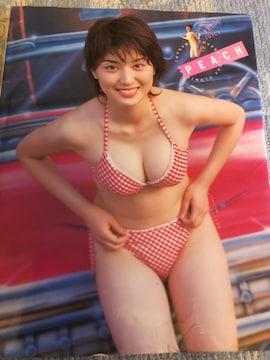 激レア!☆橋本マナミ/PEACH☆写真集☆彩文館出版チラシ付き!