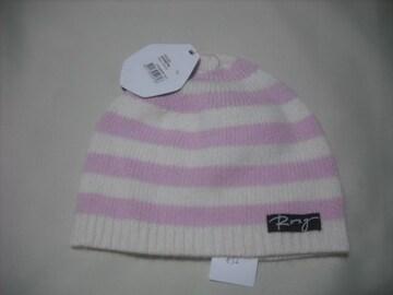 wb832 ROXY ロキシー アンゴラウール ニット帽 ボーダー