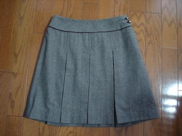 anysis エニィシィス ボックスプリーツ風ウールスカート