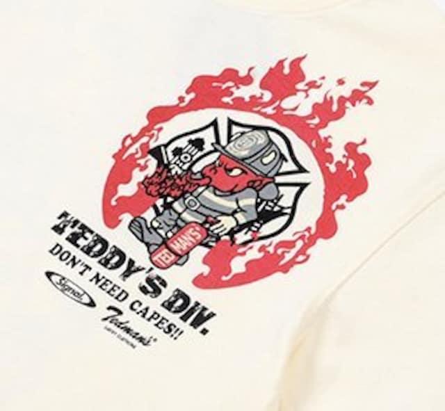 テッドマン×シグナル/Tシャツ/白/tdss-516/エフ商会/カミナリモータース < 男性ファッションの