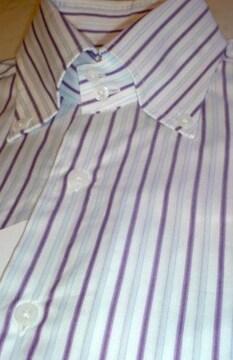 □UNITED ARROWS/ユナイテッドアローズ ストライプ ビジネスシャツ/メンズ☆新品