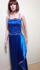 ageha…光沢ブルーのキラ�A刺繍2ピースドレス☆3点で即落☆