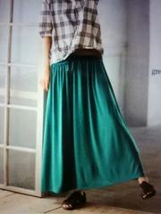 *美ドレープ スカート* グリーン 新品L