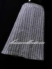 セール3L大きいサイズ膝丈ツイードスカート美ライン春新作