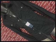 4L・ドビーZIPシャツ新品黒/MC01P‐612