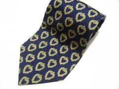 モードの帝王イヴ・サンローラン.紺色高貴な柄.シルク100%ネクタイ最高マストアイテム