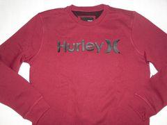 USA購入【Hurley】ロゴプリント裏起毛 スウェットトレーナーUS M