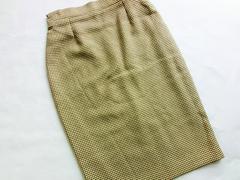 新品☆【ダマールDAMART】チェック柄タイトスカート M〜Lサイズ☆茶色