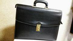 正規 ロエベ LOEWE アナグラム アマソナ ビジネスバッグ黒 ブリーフ 書類鞄