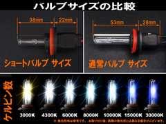 決算セール☆ HID H8 H11 兼用 ショートバルブ 6000K 2個セ