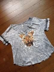 海外☆転写プリントTシャツ・新品