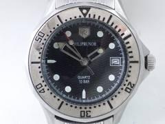 9095/PHILIPRUNORダイバー型デザインメンズ腕時計★純正のブレス付