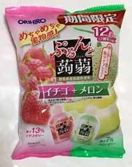 ぷるんと蒟蒻ゼリー☆いちご&メロン☆12個入り