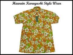 新品ビッグサイズUSA ハワイアンカリユシ風 ウエアシャツ XL アロハクーバスタイル