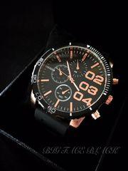 BIGフェイスBLACK/DIESELディーゼルtypeクロノ腕時計