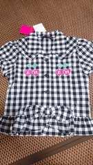 新品 アースマジック チェックシャツ 140
