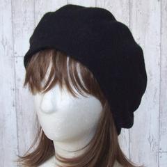 帽子♪フェミニンスタイル  フェルト ベレー帽 ブラック