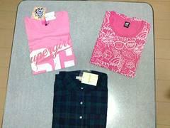 ベビードール 半袖Tシャツ 新品&中古&ハッシュアッシュ 長袖シャツ 新品 Sサイズ3点