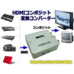 送料無料!HDMIコンポジットアダプター/RCA変換コンバーター