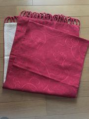 ループフリンジ付 和装ショール 茜色 着物 羽織