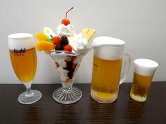 食品サンプル(パフェ&ビール)