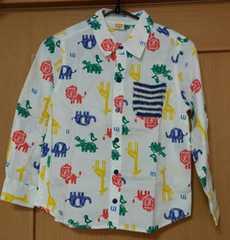 ムージョンジョン☆新品☆春物☆動物柄のシャツ☆size130