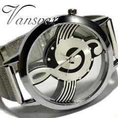 新品・未使用★Vansvar 美しい音符【スケルトン】腕時計 SS