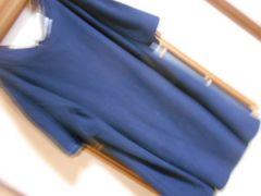 レトロガール*紺トレーナー風生地ドルマンチュニック*クリックポスト164円