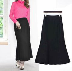新品【7235】2L(大きいサイズ)黒マーメイドラインのロングスカート