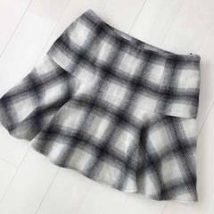 GU'ジーユー*チェック柄ニットスカート*used美品