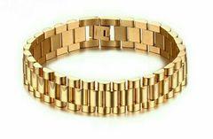 時計ベルトタイプ ゴールドブレスレット 18KGP 送料無料