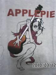 ギターガールグラフィック柄Tシャツ