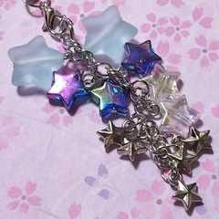 【handmade】スターダスト☆strap☆シュガーブルー