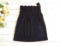 新品 M.K.R 黒 パイル ベアトップ スカート 2way