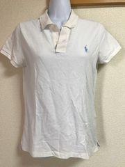 ★Ralph Lauren スキニーフィット 白×ポロシャツ  M★