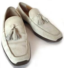 正規フェラガモレザーシューズ靴スエードタッセルスウェード#6 24.5cmメンズローファー