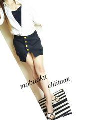 ・*極ミニ丈スカート/前ボタン*・