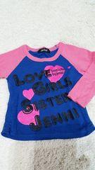 JENNI  ロンT  長袖 100cm  ブルー × ピンク