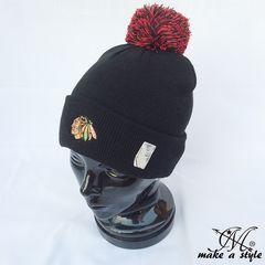 シカゴ ブラックホークス ニットキャップ ニット帽 NHL B系 434