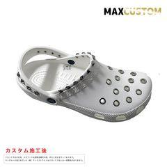 クロックス crocs パンク カスタム 白 crocs ホワイト 22-29