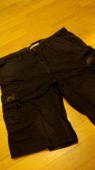 JETLAGデザインカーゴハーフパンツ 黒ブラック サイズW40→42位 110cm