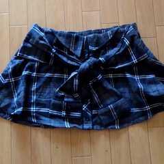 ☆グレーチェックの腰巻き風スカート。激可愛です。サイズM