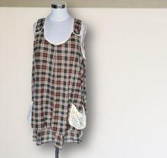 新品チェック柄ジャンパースカート3L大きいサイズ